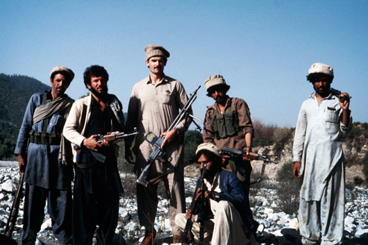 Afghanistan in 1985 with the mujahadeen during the war with the Soviet Union.