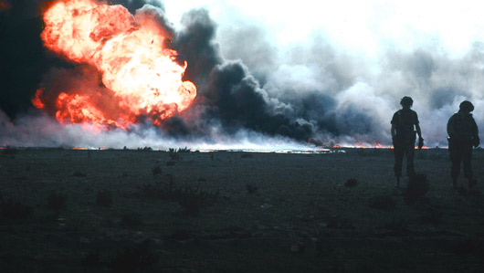 Burning Oil Field in Kuwait